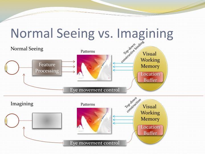 Normal Seeing vs. Imagining