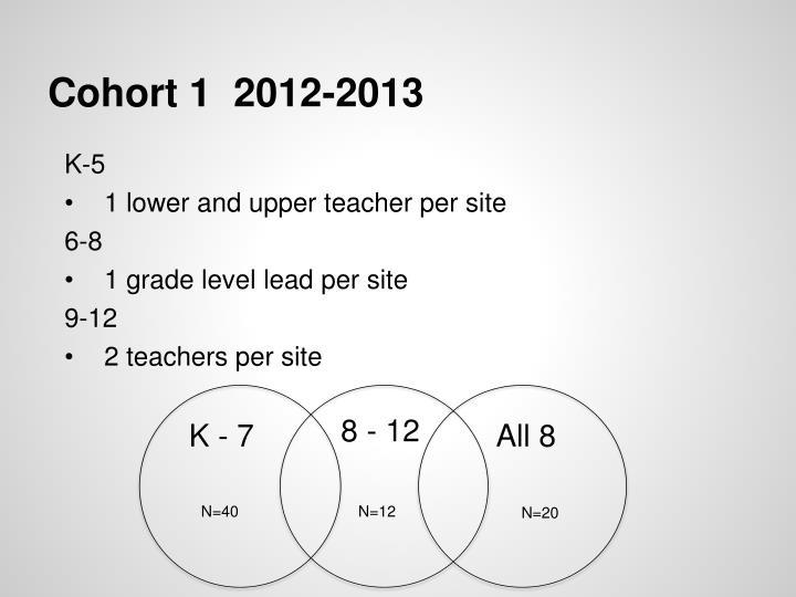 Cohort 1  2012-2013