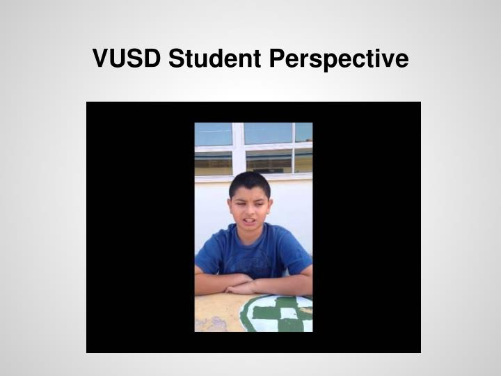 VUSD Student Perspective