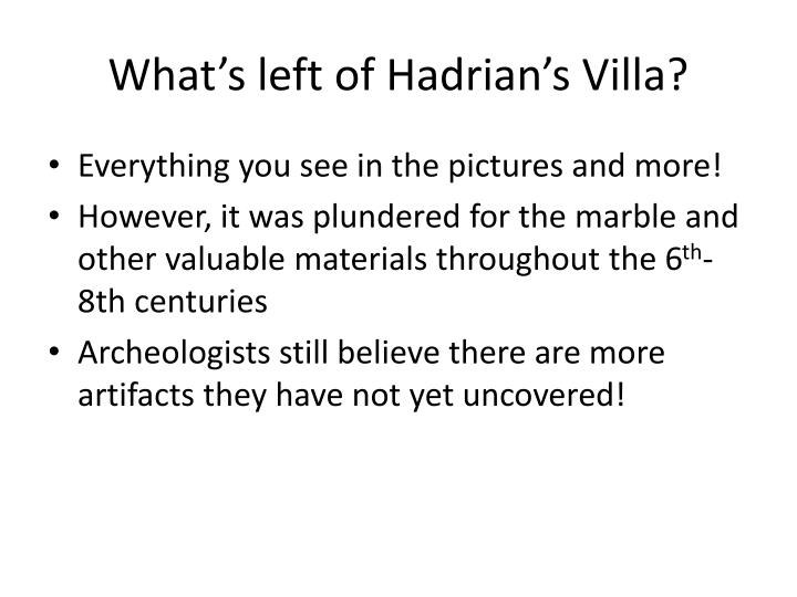 What's left of Hadrian's Villa?