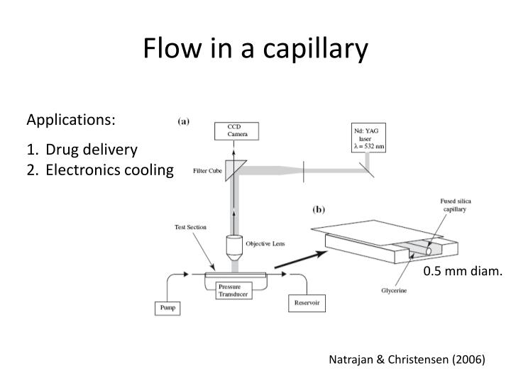 Flow in a capillary