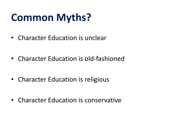 Common Myths?