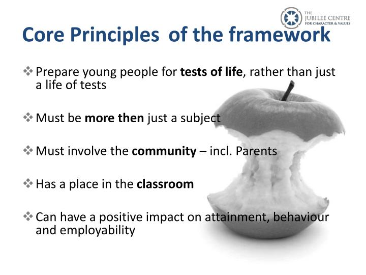 Core Principlesof the framework