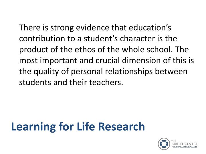 Learning for Life Research