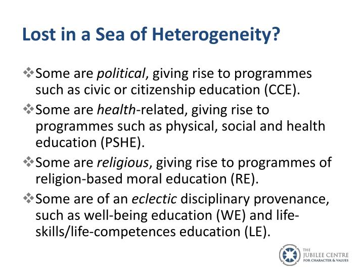 Lost in a Sea of Heterogeneity?