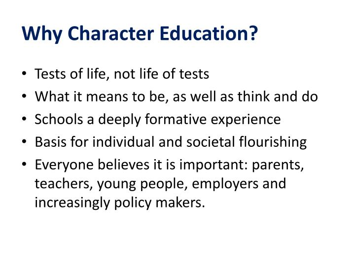 Why Character Education?