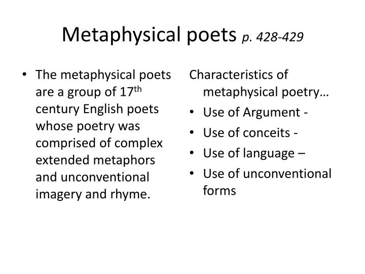 Metaphysical poets