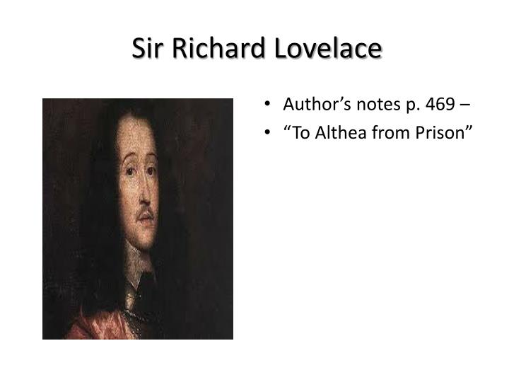 Sir Richard Lovelace