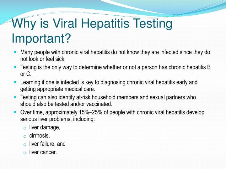 Why is Viral Hepatitis Testing Important?