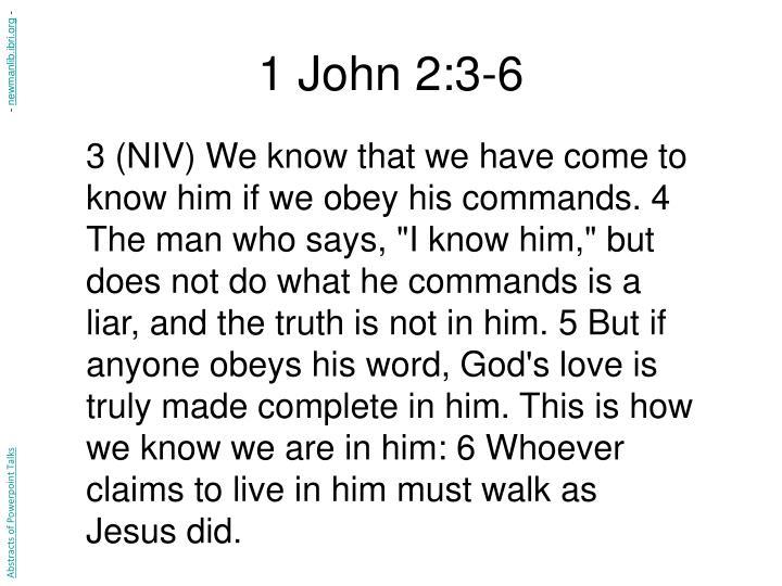 1 John 2:3-6