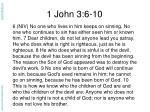 1 john 3 6 10