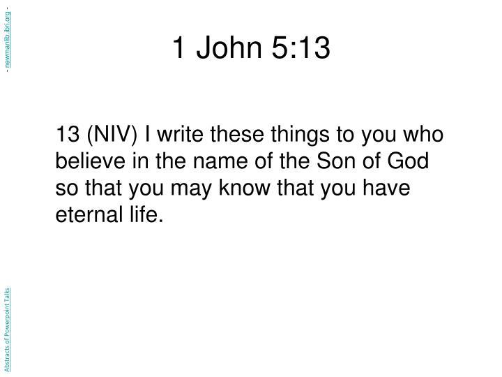 1 John 5:13