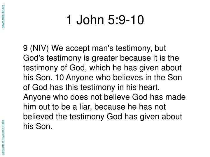 1 John 5:9-10
