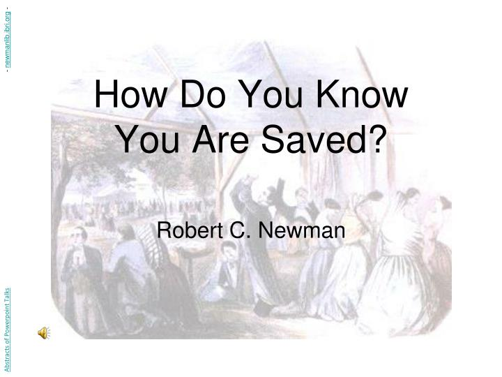 How do you know you are saved