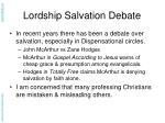 lordship salvation debate