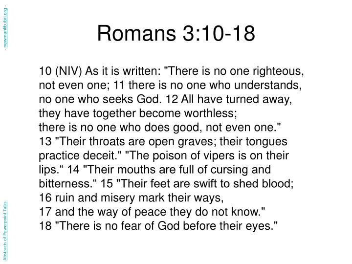 Romans 3:10-18