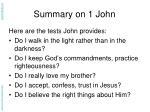 summary on 1 john