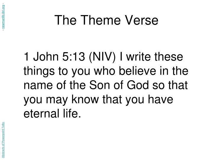 The Theme Verse