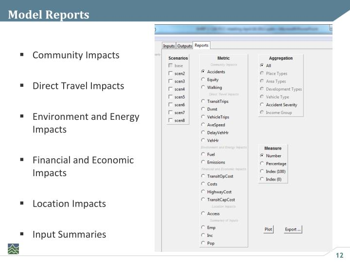 Model Reports