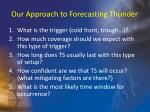 our approach to forecasting thunder
