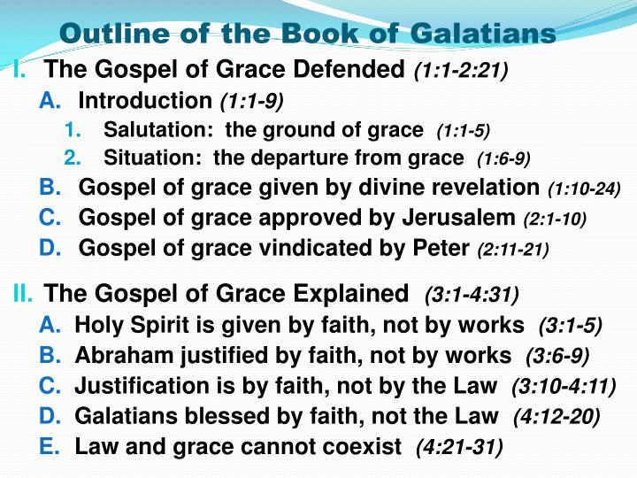 Outline of the Book of Galatians