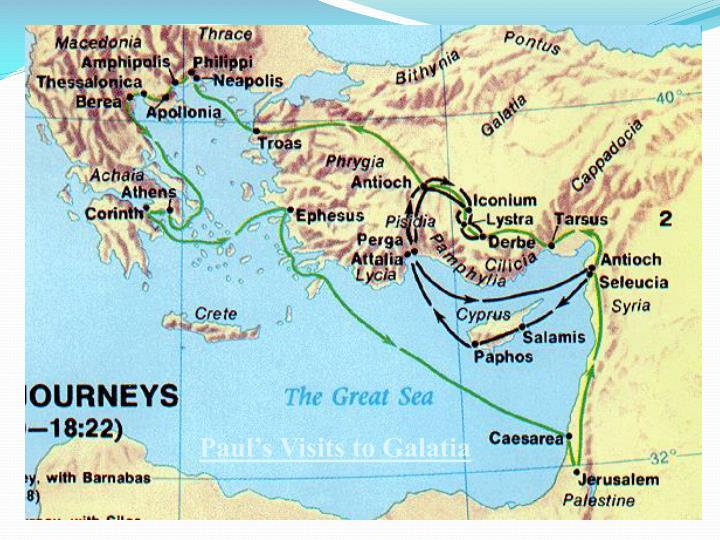 Paul's Visits to Galatia