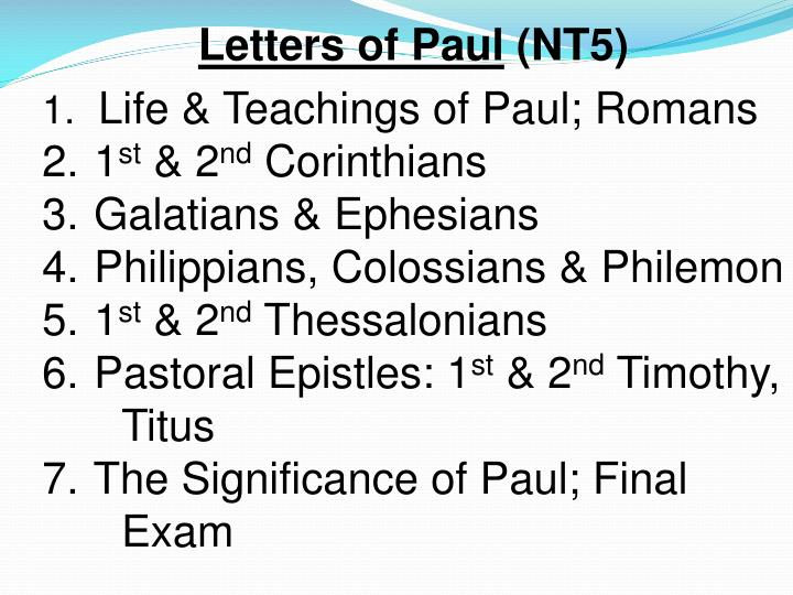 Letters of Paul