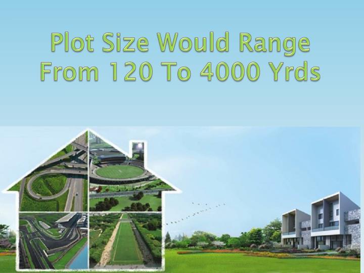 Plot Size Would Range