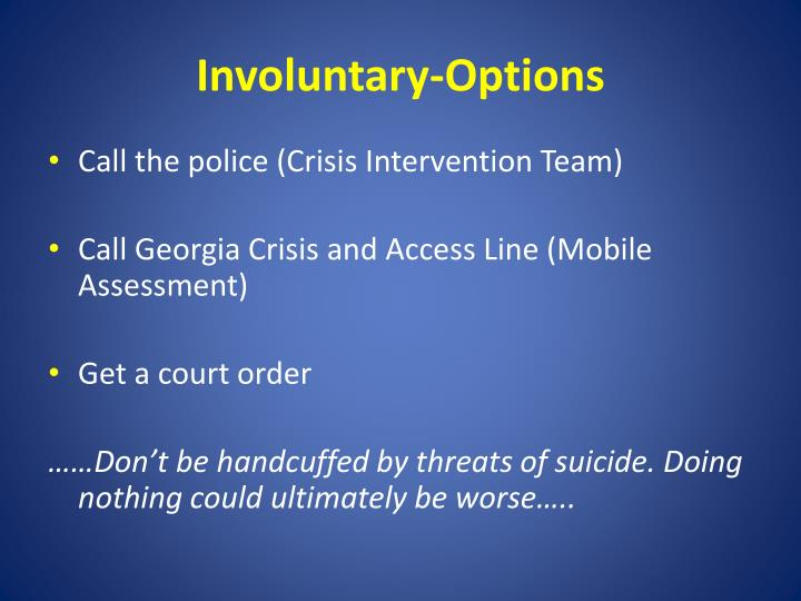 Involuntary-Options