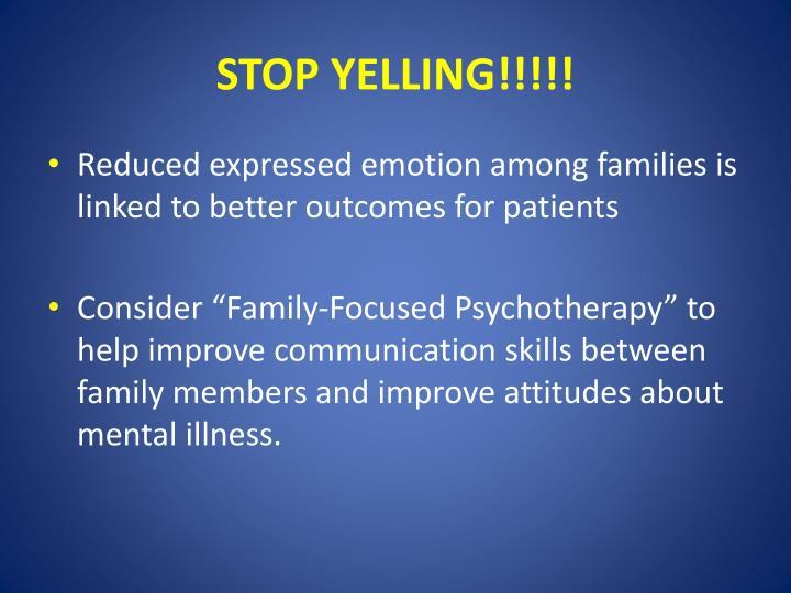 STOP YELLING!!!!!