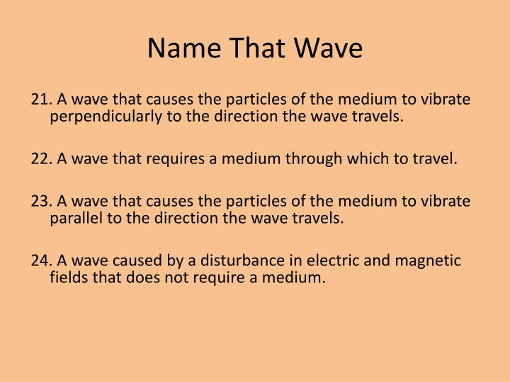 Name That Wave