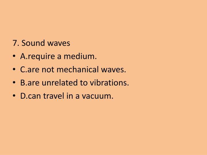 7. Sound