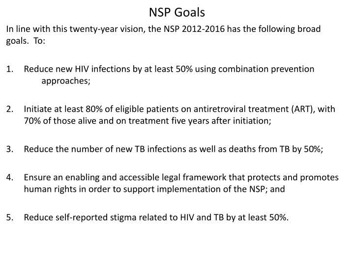 NSP Goals