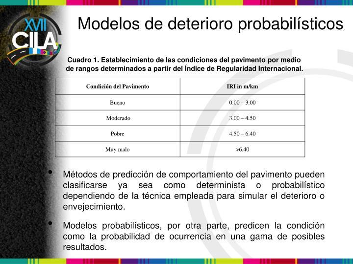 Modelos de deterioro probabilísticos