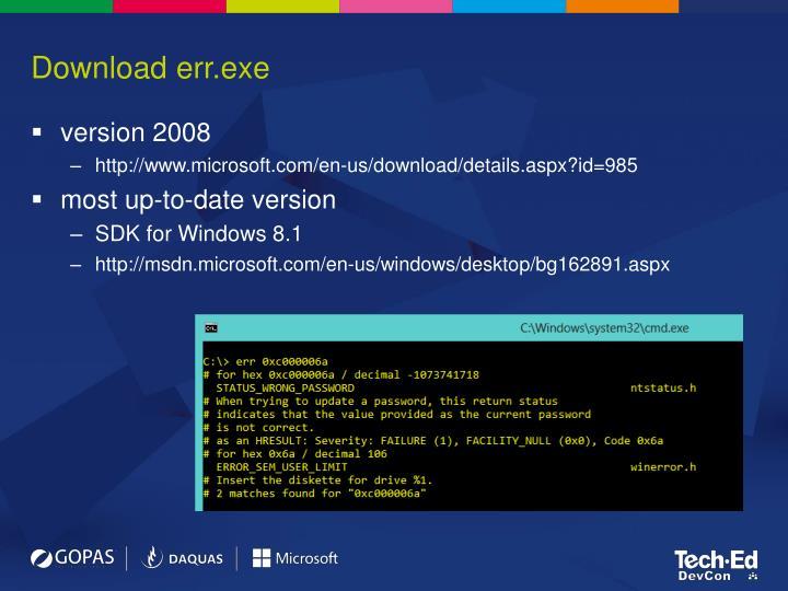 Download err.exe