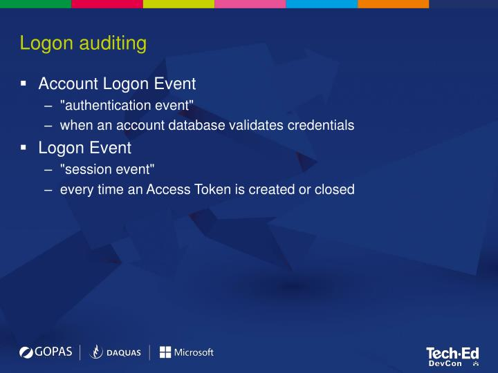Logon auditing