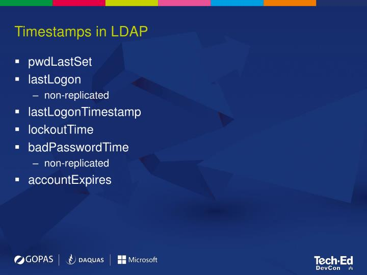 Timestamps in LDAP