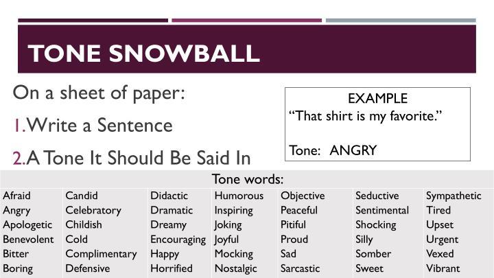 TONE SNOWBALL