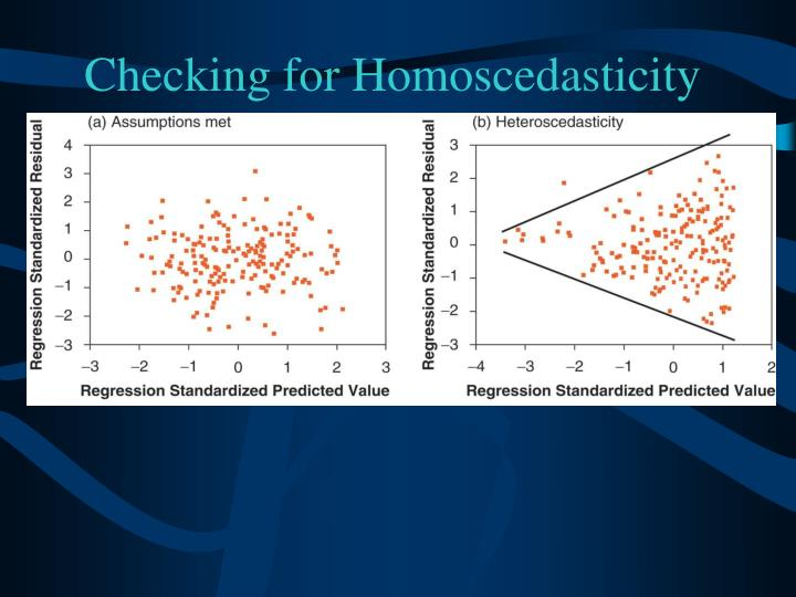 Checking for Homoscedasticity
