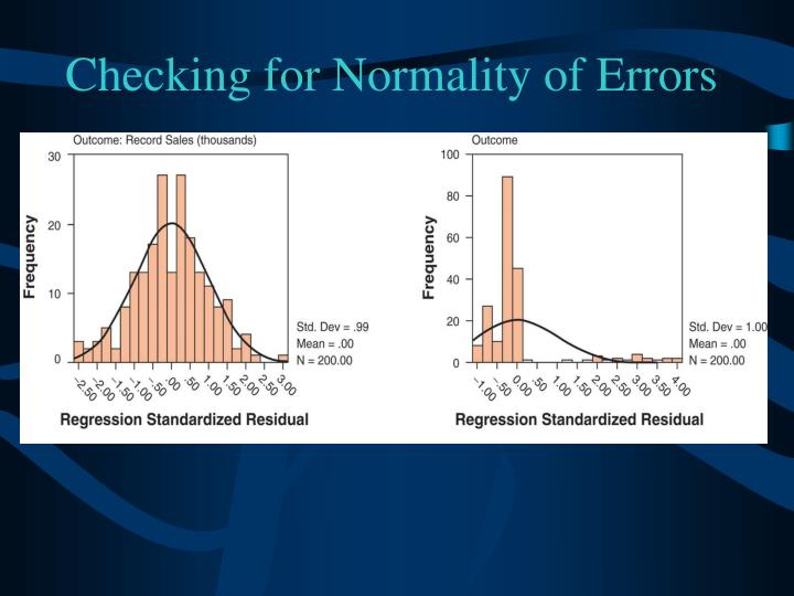 Checking for Normality of Errors