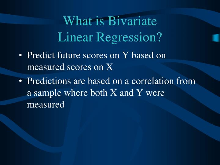 What is bivariate linear regression