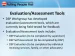 evaluation assessment tools