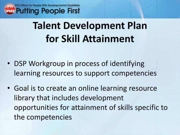 Talent Development Plan