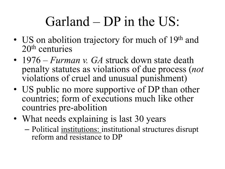 Garland dp in the us
