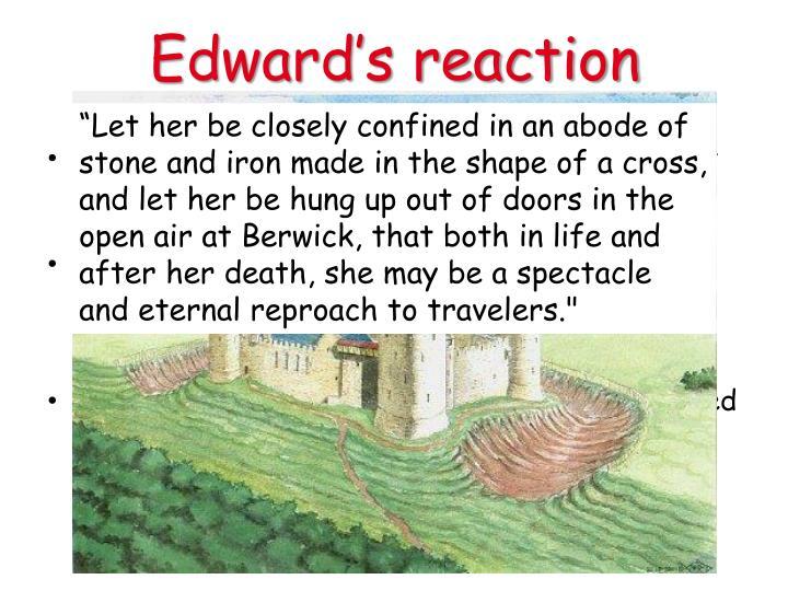 Edward's reaction