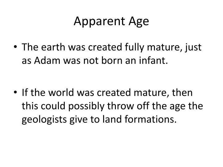 Apparent Age