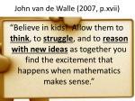 john van de walle 2007 p xvii
