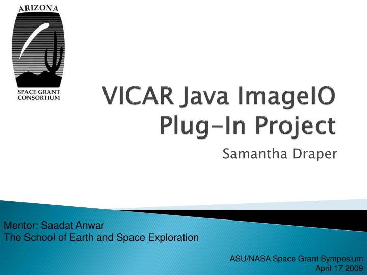 Vicar java imageio plug in project