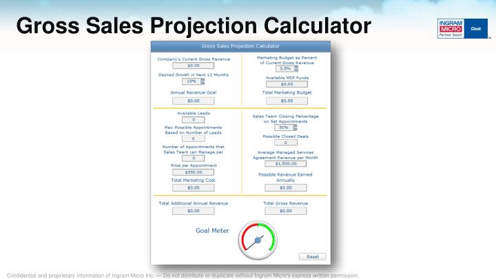 Gross Sales Projection Calculator