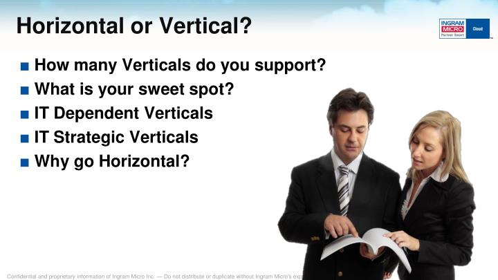 Horizontal or Vertical?